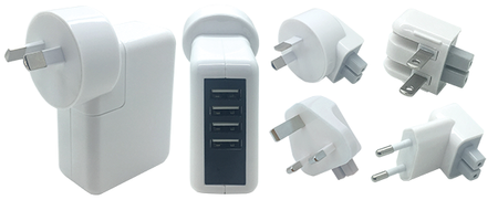 Charger Travel 4USB 5PC - 240V - 2.0A  - White